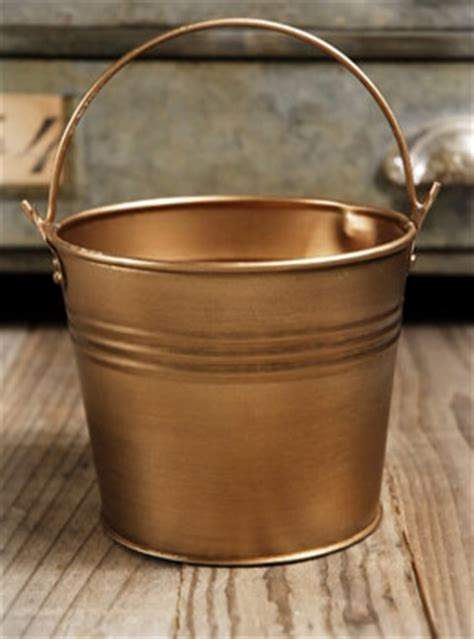 Nautical Home Decorations by Antique Brass 4 Quot Bucket With Handle