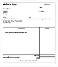 simple free invoice template search results for editable invoice template pdf