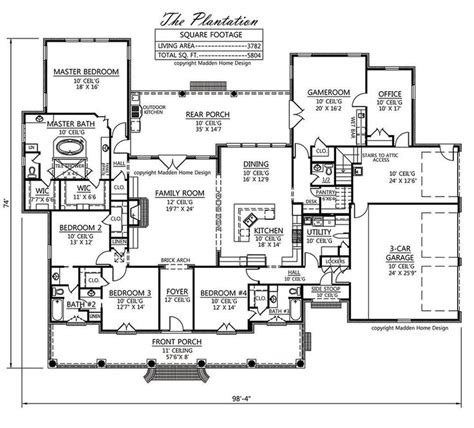 acadian floor plans floorplan onestory the plantation like almost everything about this one just needs a formal