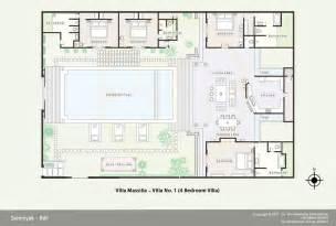 Bali Villa Floor Plan Floor Plan Of Massilia Villas Bali A Luxury Private