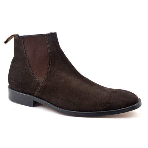 buy brown suede chelsea boots for gucinari