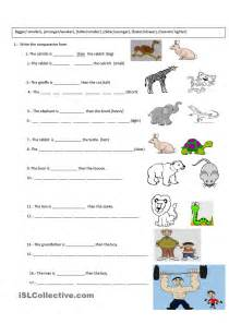 comparative exercise english for kids pinterest