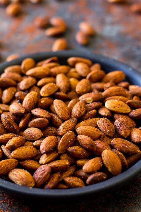 Roasted Nuts easy chipotle roasted almonds paleo vegan paleo running momma