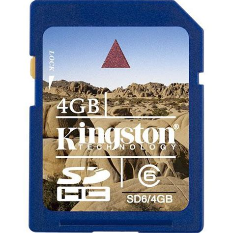 V Sdhc 4gb Class6 Memory Card Speed 25mbs Sd Card Original kingston 4gb secure digital sdhc card sd6 4gb b h photo