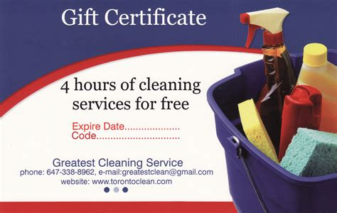 cer house cleaning gift certificate toronto maid services gift card house cleaning