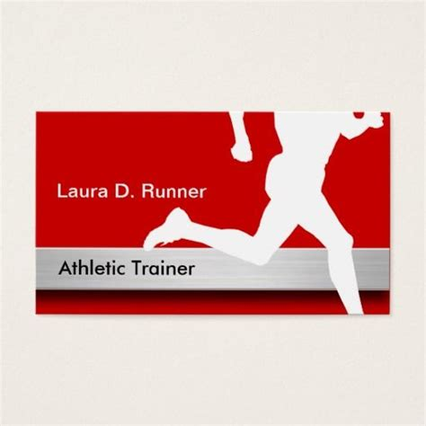 athletic business card template 169 best images about athletic trainer business cards on