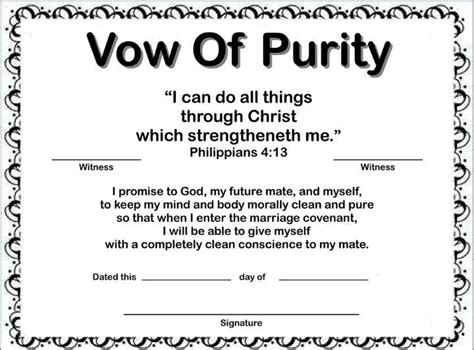 vow of purity i am a proud christian