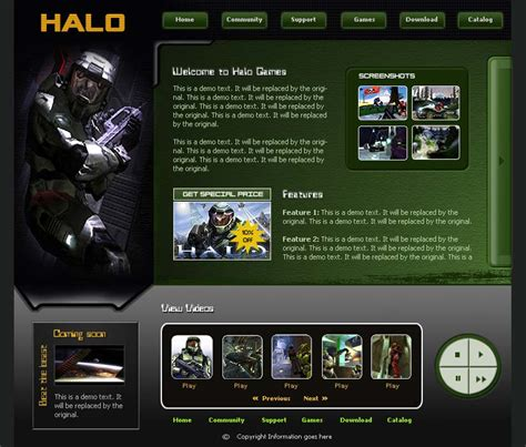 website templates for gaming clans closed halo clan template free website templates