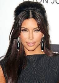 kim kardashian half up half down hairstyles 1000 images about bouffant hairstyle on pinterest