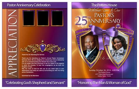 pastor anniversary program templates kingdom design pastor and anniversary