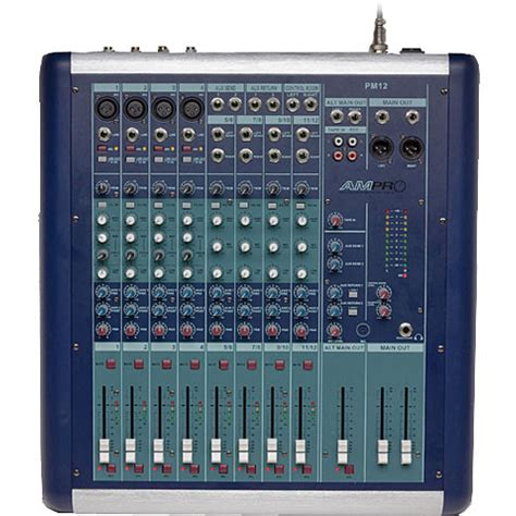 Mixer Monitor Audio 8 Chanel australian monitor pm12 8 channel recording and sound pm12 b h