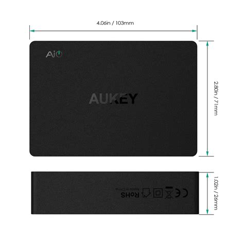 Aukey Usb Charger 6 Port With Dual Charge 30 Pa T11 aukey pa t11 6 port usb charger with end 2 16 2020 6 28 pm