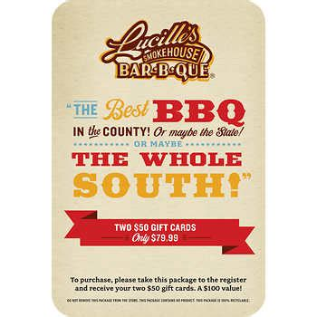 Lucille S Gift Card Amount - lucille s smokehouse bar b que gift cards 2 50