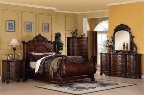 king sleigh bedroom sets acme furniture jacob traditional cherry california