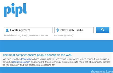 Pipl Search Engine Pipl A Dedicated Search Engine For Finding Information