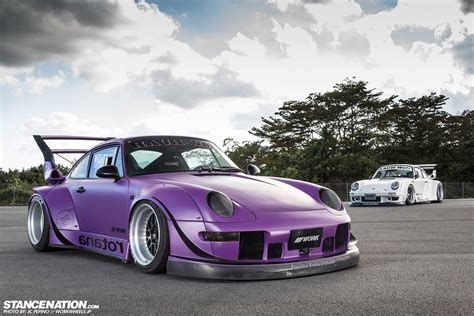 porsche rwb kamiwaza rotana the rauh welt couple stancenation