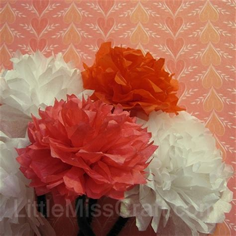 How To Make Tissue Paper Carnations - crafts carnation tissue paper flower