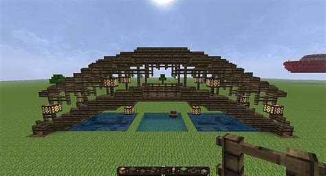 Home Design Blueprints all wood covered bridge minecraft project