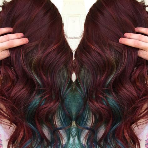 haircolor styles withn burgundy accents 42 best hair styles images on pinterest colourful hair
