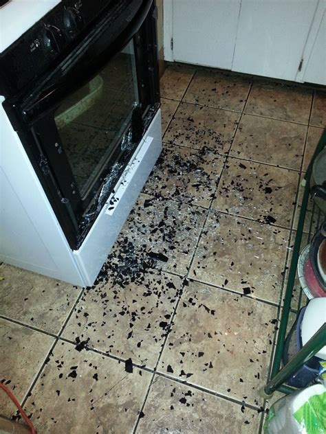 Front Glass On My Oven Door Exploded By Mgrmoose In Wtf Oven Door Glass Exploded