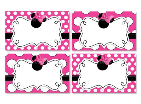 free minnie mouse place card template 8 best images of minnie mouse free printable placecards