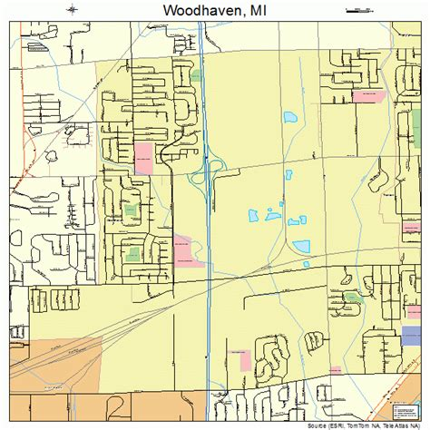 woodhaven michigan street map 2688380