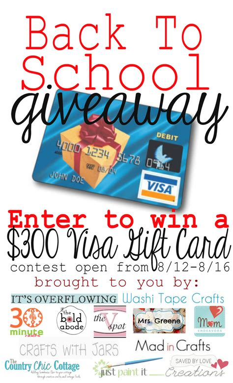 300 Visa Gift Card - 300 visa gift card back to school giveaway
