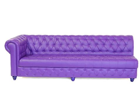 beautiful purple chesterfield sofa on rent for events