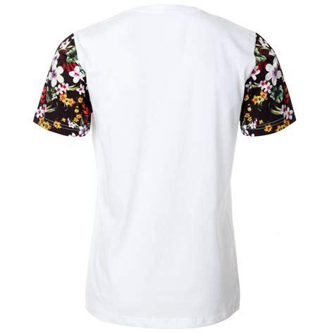 T Shirt Floral mens white floral letter t shirt
