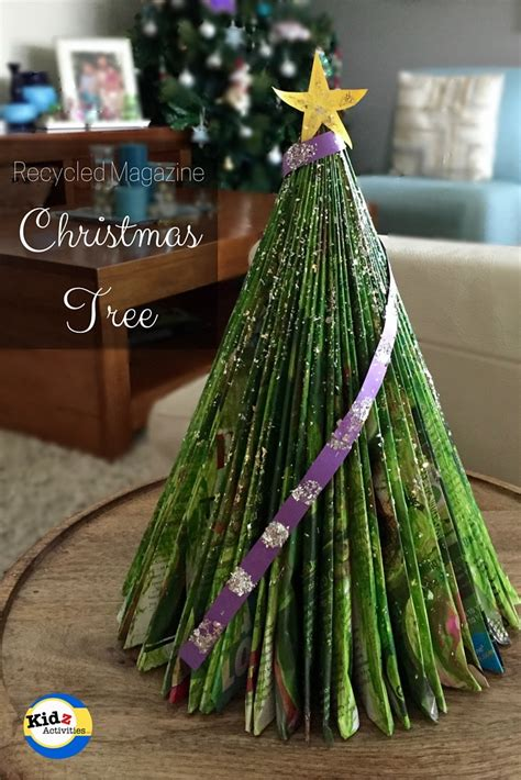 recycled magazine christmas tree kidz activities