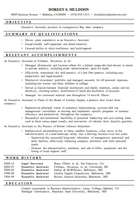 Resume Examples 2013 Administrative Assistant Resume Samples 2013 Images