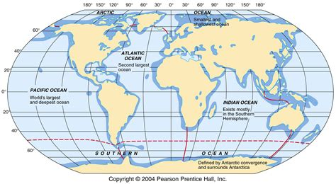 map of the oceans g115 introduction to oceanography