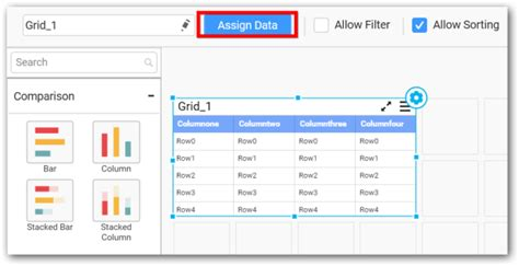 grid layout of buttons configuring and formatting grid with syncfusion dashboard