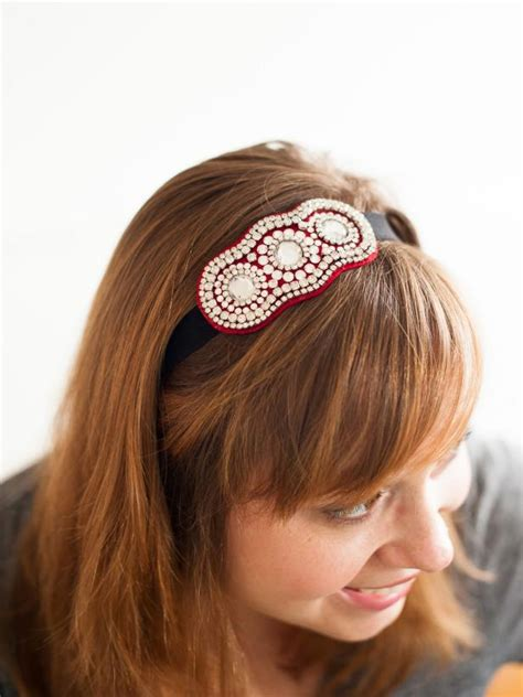 How To Make Handmade Headbands - how to make a trendy rhinestone headband hgtv