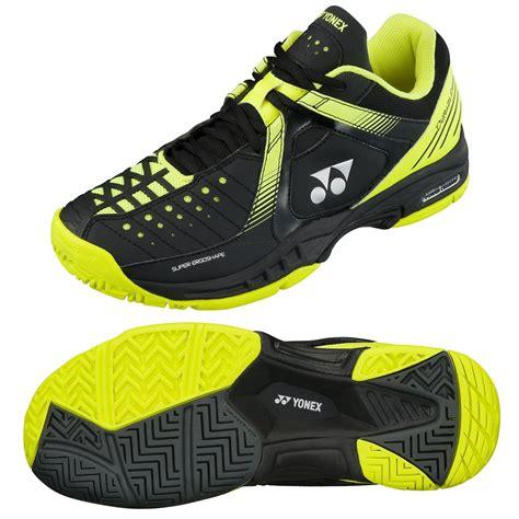 yonex mens sht durable tennis shoes black yellow