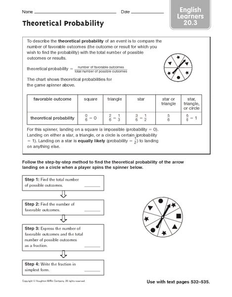 Experimental Probability Worksheet by Theoretical Probability Worksheet Lesupercoin Printables