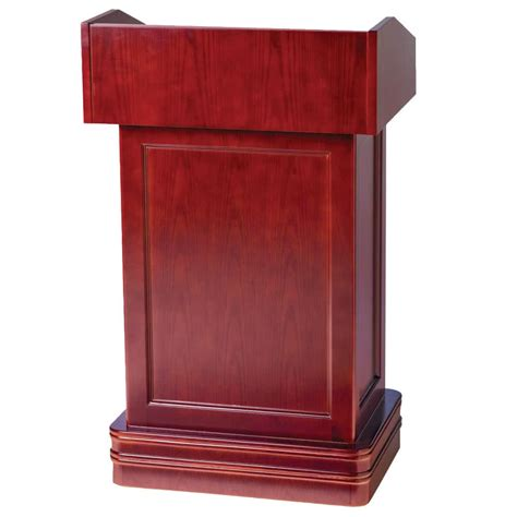 Furniture Design Online by Aarco Hostess Podium With Cherry Finish Pod 2