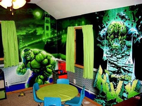 incredible hulk room  son loves  incredible hulk