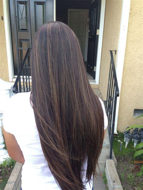 diy highlights for dark brown hair best 25 thin highlights ideas on pinterest highlights