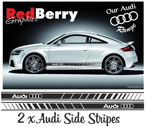 Audi Decals by Audi Side Stripes Decals Stickers Tt Rs Quattro Vinyl