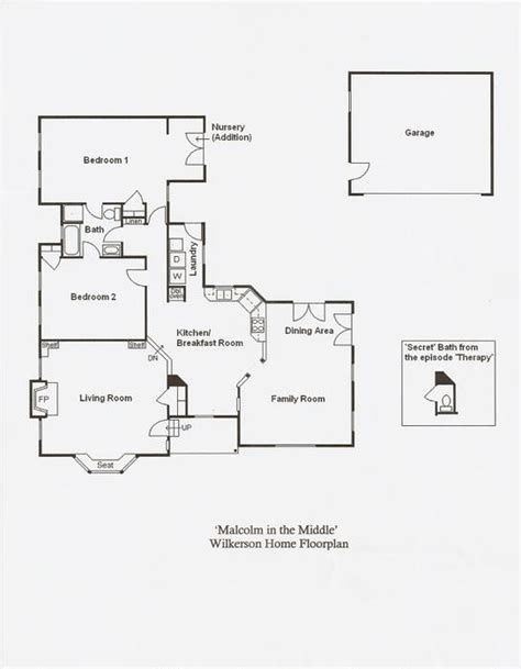 Layout Of The Middle House | the wilkerson house floor plan malcolm in the middle vc