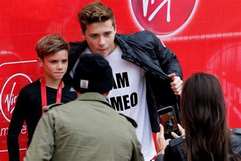 romeo beckham secondary school david and victoria beckham s son competes in london