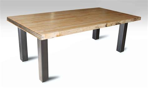 Bowling Alley Table Top With Square Metal Legs Olde Good