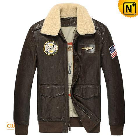 Jaket Boomber Jaket Pilot Series leather flight bomber jacket coat nj