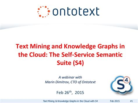 Mining In The Cloud As by Text Mining And Knowledge Graphs In The Cloud The Self