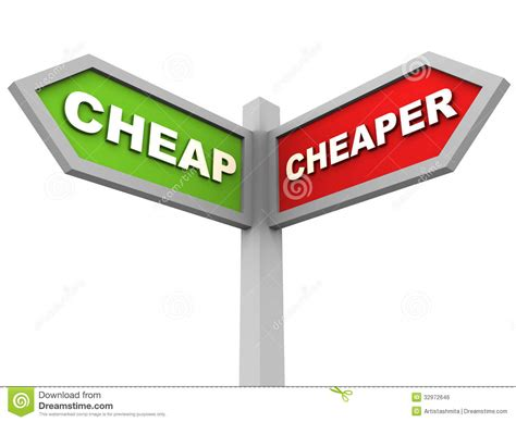 Cheapest Rent In United States by Cheap Cheaper Royalty Free Stock Image Image 32972646