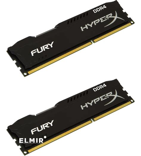 Kingston Hyperx Fury Ddr4 2400 8gb Hx424c15fbk2 8 Black1 ddr4 16gb 8gb x 2 2400mhz kingston hyperx