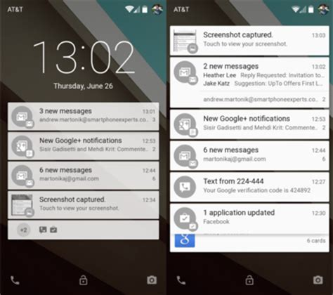 android lock screen notifications android l preview notifications and lockscreen android central