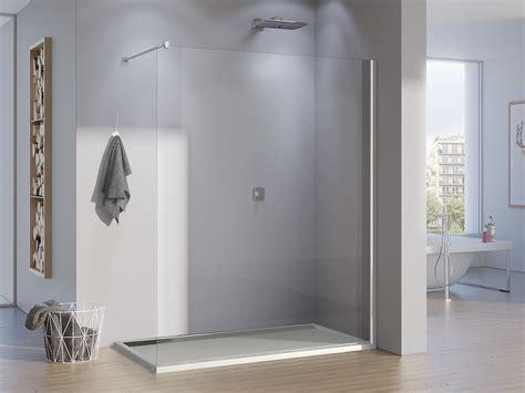 duschabtrennung feststehend freistehende duschwand glas 150 x 200 cm feststehend ebenerdig
