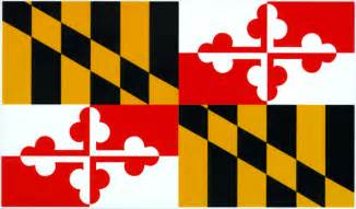 maryland colors maryland state flag enlarged